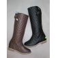 Wholesale High quality leather material lady winter dress knee high boots