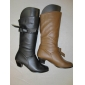 Wholesale stock winter lady dress boots two color PU material high quality popular style knee high boots