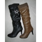 Cheap price leather material lady winter dress fashion boots