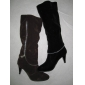 the best quality cloth material lady winter dress high knee fashion boots