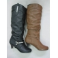 winter leather material boots cheap price popular design black color