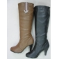 warm quality black color lady fashion winter leather boots in 2010