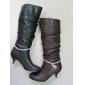 The fashion design high quality lady winter leather boots