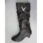 Wholesale Sexy model brown color high heel winter dress leather boots