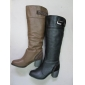 Wholesale popular model brown color dress winter leather boots
