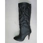 White color cheap price lady high knee dress leather boots