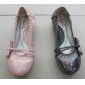 pink color lovely design lady dress low heel shoes