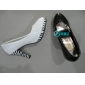 high heel lady fashion dress party shoes white color