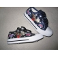 Kids' Casual Velcro Shoes Popular Cartoon Image Canvas Round Hea