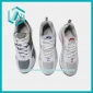 Men's New fashionable White and Grey Grid Running Shoes sneakers