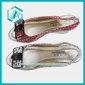 Summer lady dress shoes, high heel, party shoes, black and red, stock shoes