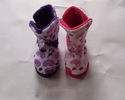 indoor autumn fashionable bold colours girl's winter boots