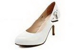 Wholesale Trendy lady's  rubber long time resistant white shoes sexy