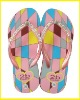 comfortable colorful wedge heel ladies EVA Flip flops