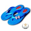 new blue comfortable well processed sophisticated materials flip flops B06