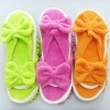 Colourful Chenille slippers