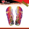 2011 Women's EVA beach flip flops slippers with slope-heeled, Fashion flip flops slippers with beauty design