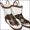 Wholesale fashionable childrens rubber rain boots